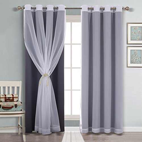 Mix Match Window Curtain Panels – Ryb Home 2 Solid White Regarding Mix And Match Blackout Blackout Curtains Panel Sets (#41 of 50)