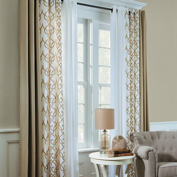 Mixing Curtains – Interesting In 2019 | Home, Insulated Within Double Layer Sheer White Single Curtain Panels (View 34 of 50)