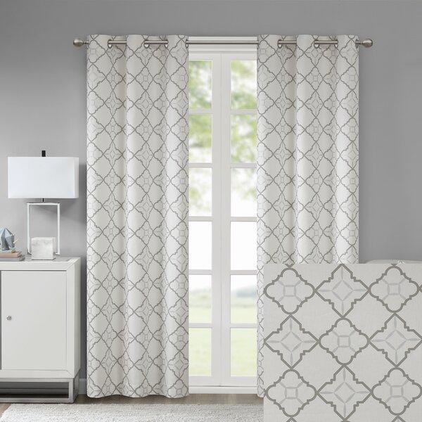 Mocha Geometric Curtains | Wayfair (View 45 of 50)