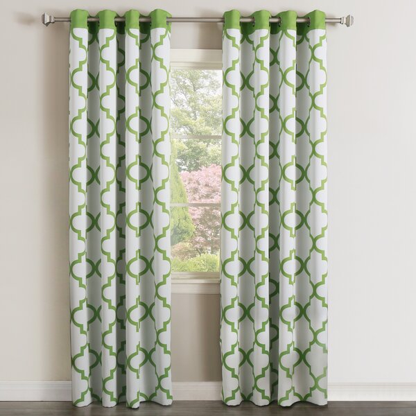 Modern & Contemporary Printed Curtains | Allmodern Inside Mecca Printed Cotton Single Curtain Panels (View 42 of 50)