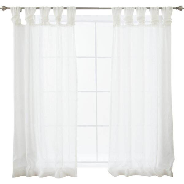 Modern & Contemporary Solid Heavy Faux Linen Curtain | Allmodern Pertaining To Luxury Collection Faux Leather Blackout Single Curtain Panels (View 11 of 42)
