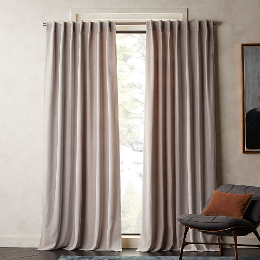 Modern Curtains And Drapes | Cb2 Intended For Solid Cotton True Blackout Curtain Panels (View 33 of 50)