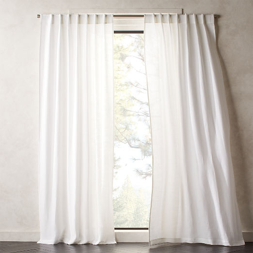 Modern Curtains And Drapes | Cb2 Pertaining To French Linen Lined Curtain Panels (View 35 of 50)