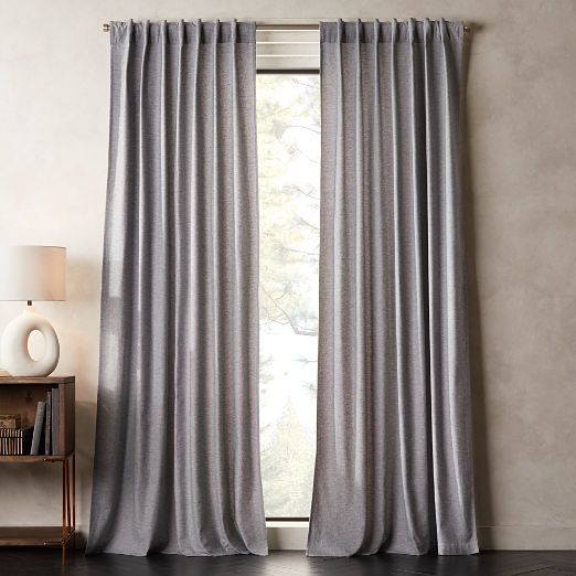 Modern Curtains And Drapes | Cb2 Within Solid Cotton True Blackout Curtain Panels (#31 of 50)