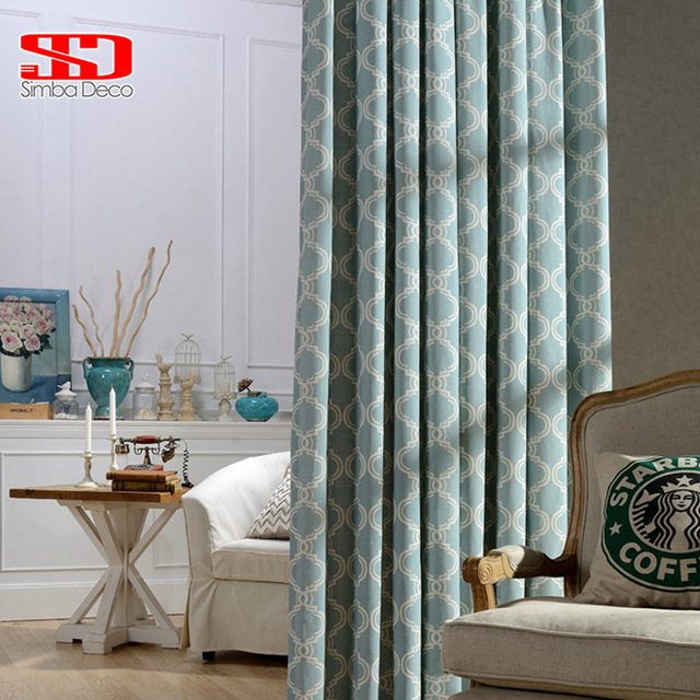 Modern Geometric Lantern Linen Curtains For Living Room Intended For Geometric Linen Room Darkening Window Curtains (View 35 of 50)