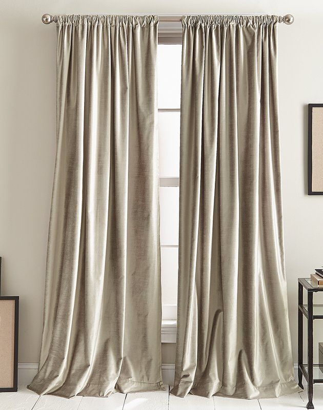 Modern Knotted Solid Color Room Darkening Rod Pocket Panel Regarding Knotted Tab Top Window Curtain Panel Pairs (#25 of 50)