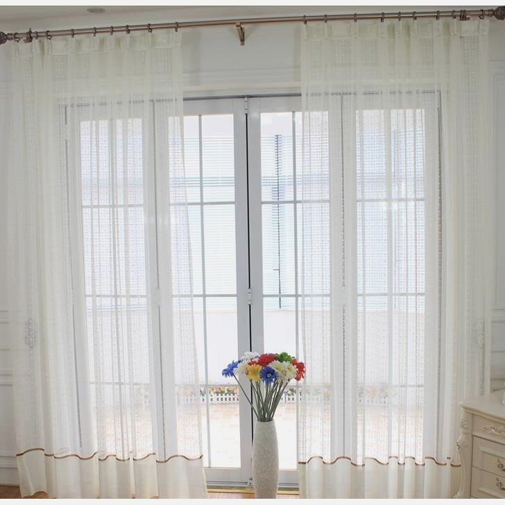 Modern Patterned Sheer Curtains – Eggplant Show (#20 of 35)