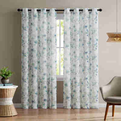 Modern Sheer Curtain Panels With Designs – Creative Design Ideas Intended For Laya Fretwork Burnout Sheer Curtain Panels (View 17 of 38)