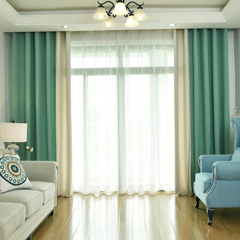 Modern Solid Color Cotton Linen Blackout Curtains For Living Room Window  Curtains For The Bedroom Curtains Within Solid Cotton True Blackout Curtain Panels (#32 of 50)