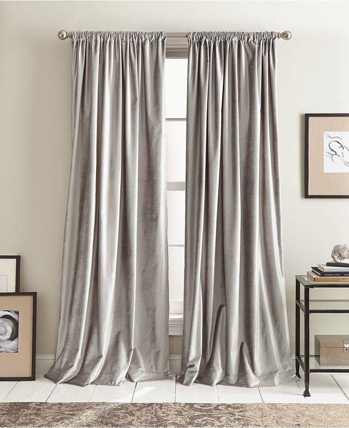 Modern Textured Velvet 50 X 84 Pole Top Pair Of Window For Knotted Tab Top Window Curtain Panel Pairs (#26 of 50)
