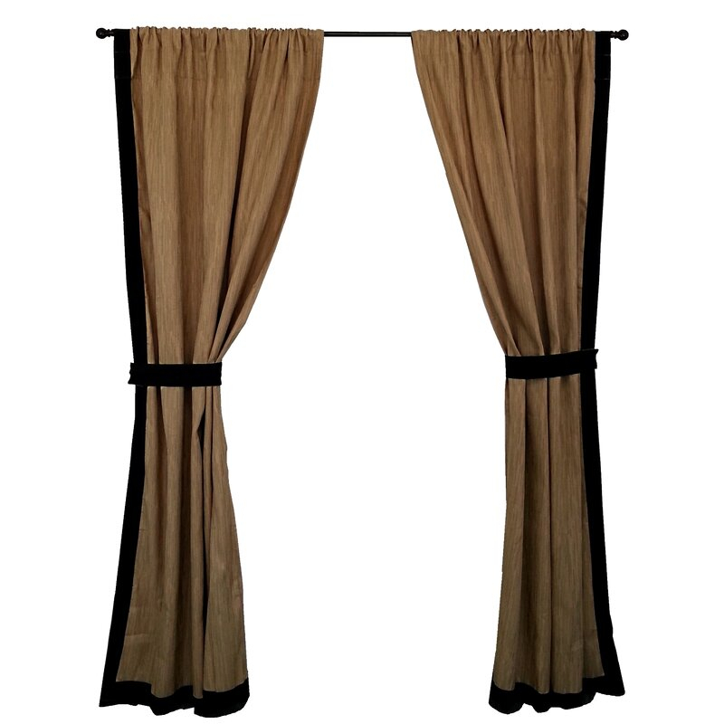 Mombasa Striped Semi Sheer Rod Pocket Curtain Panels Intended For Keyes Blackout Single Curtain Panels (View 37 of 50)