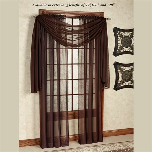 Monte Carlo Sheer Voile Window Treatment In Sheer Voile Waterfall Ruffled Tier Single Curtain Panels (#18 of 50)