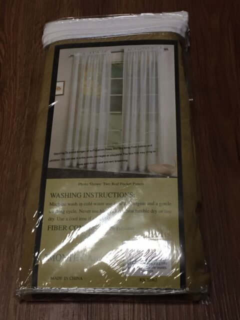 "Monte Carlo Voile Panel One Rod Pocket Panel 59 X 108"" Bronze Throughout Luxury Collection Monte Carlo Sheer Curtain Panel Pairs (#18 of 29)"