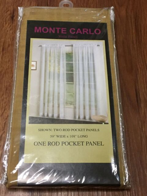 "Monte Carlo Voile Panel One Rod Pocket Panel 59 X 108"" Bronze With Regard To Luxury Collection Monte Carlo Sheer Curtain Panel Pairs (#19 of 29)"