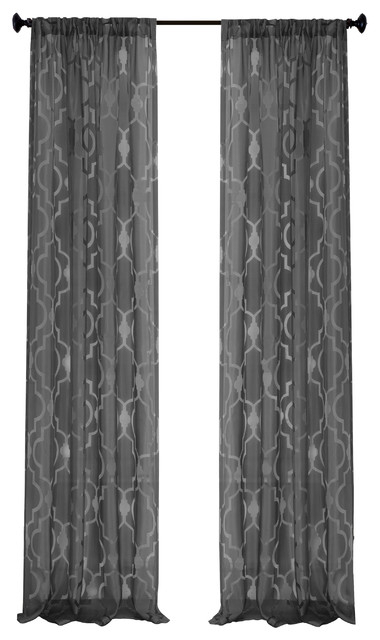 "Montego Window Panel, Black, 52""x84"" Regarding Kaiden Geometric Room Darkening Window Curtains (#28 of 39)"