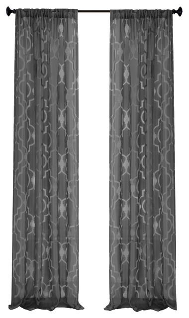 "Montego Window Panel, Black, 52""x84"" Regarding Kaiden Geometric Room Darkening Window Curtains (View 28 of 39)"