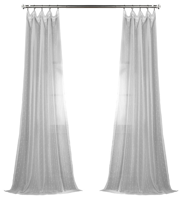 Popular Photo of Montpellier Striped Linen Sheer Curtains