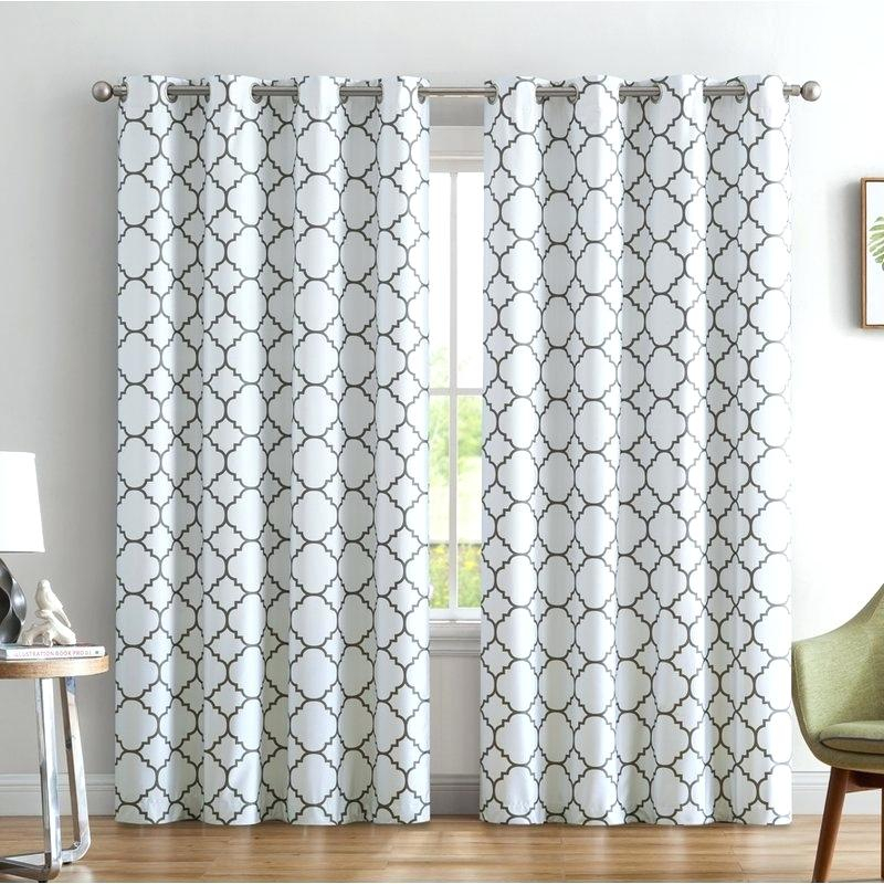 Moroccan Curtain Panels Decoration Aurora Home Tile Inch Throughout Moroccan Style Thermal Insulated Blackout Curtain Panel Pairs (View 49 of 50)