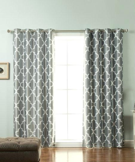 Moroccan Curtain Panels Gray Tile Blackout Panel Style Print In Grey Printed Curtain Panels (View 31 of 48)