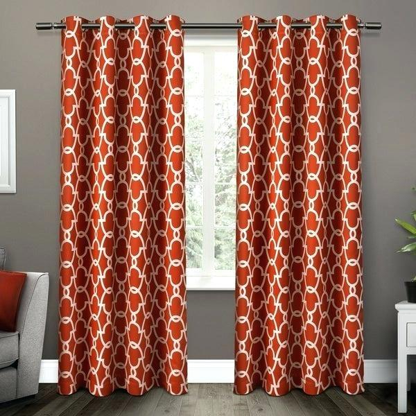 Moroccan Curtains In Woven Blackout Curtain Panel Pairs With Grommet Top (#35 of 42)