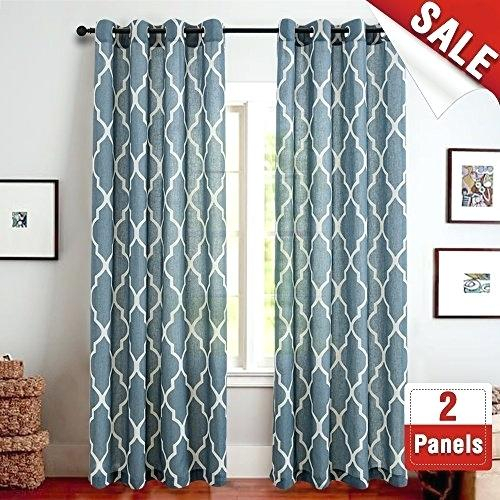 Moroccan Print Curtains – Embavenelibano With Grey Printed Curtain Panels (View 32 of 48)