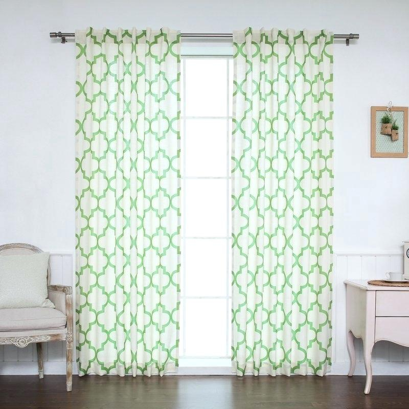 Moroccan Style Curtains – Bellarmineveritasministry Regarding Moroccan Style Thermal Insulated Blackout Curtain Panel Pairs (View 26 of 50)