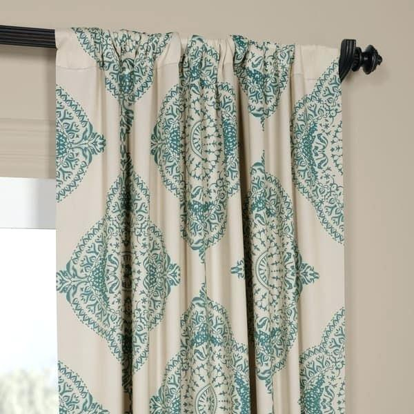 Moroccan Style Curtains – Yogithreads With Moroccan Style Thermal Insulated Blackout Curtain Panel Pairs (View 4 of 50)