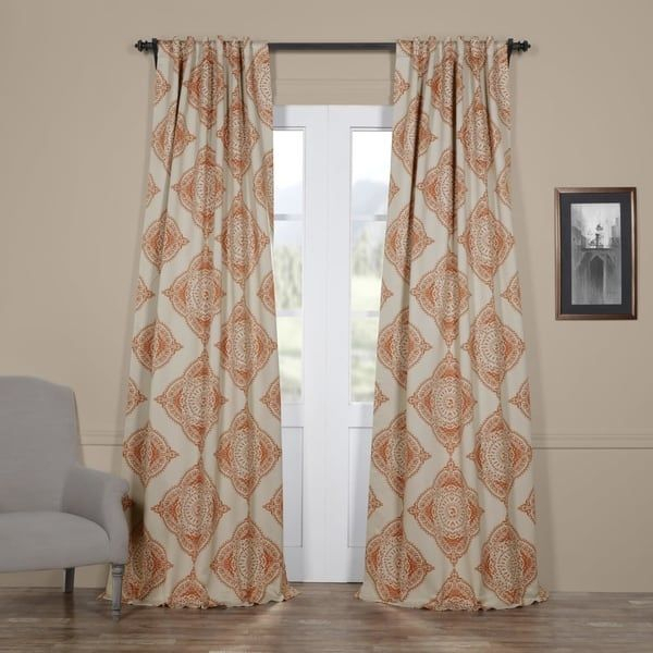 Moroccan Style Thermal Insulated Blackout Curtain Panel Pair In Insulated Thermal Blackout Curtain Panel Pairs (#33 of 50)