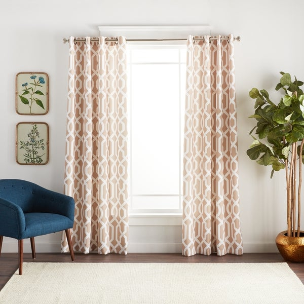 Moroccan Trellis Pattern Curtains – Home The Honoroak Throughout Edward Moroccan Pattern Room Darkening Curtain Panel Pairs (View 28 of 50)