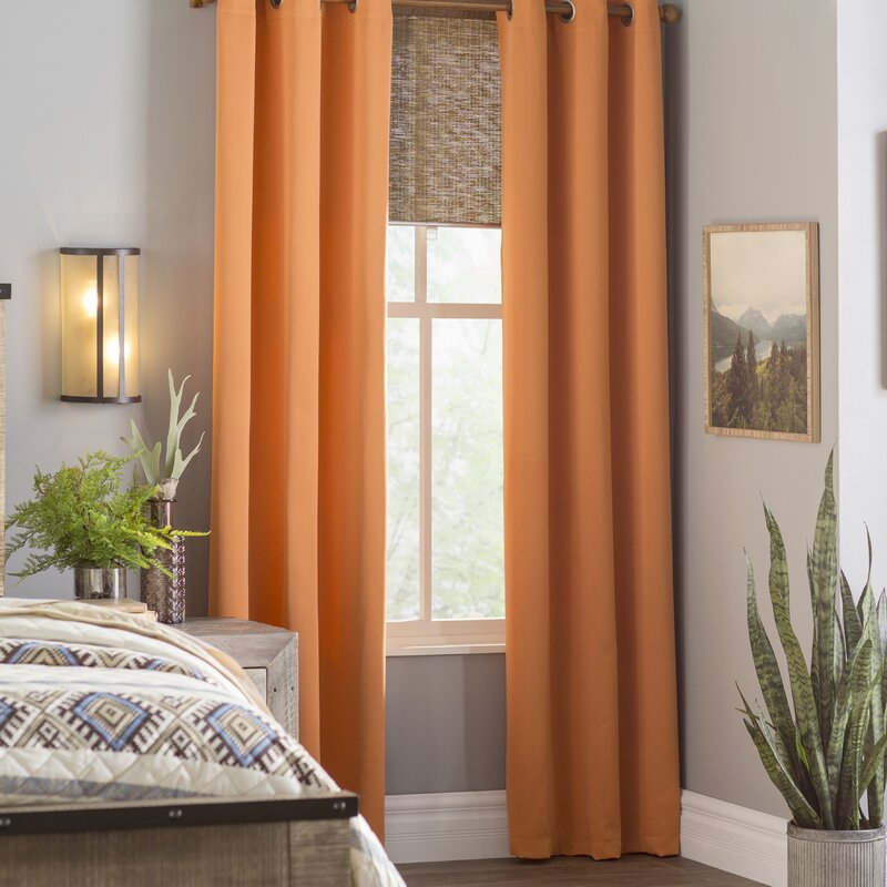 Morton Solid Blackout Grommet Curtain Panels Within Silvertone Grommet Thermal Insulated Blackout Curtain Panel Pairs (#30 of 35)