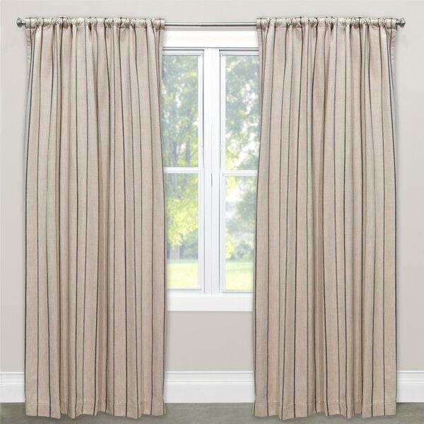 Murawski Unlined Striped Room Darkening Rod Pocket Single Curtain Panel Regarding Cyrus Thermal Blackout Back Tab Curtain Panels (View 19 of 39)