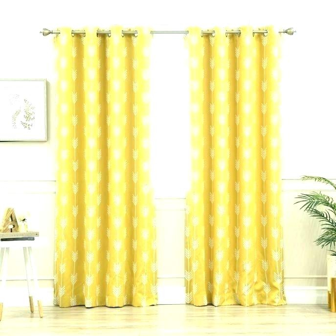 Mustard Color Curtain Panels – Spookgroup Inside Mecca Printed Cotton Single Curtain Panels (View 34 of 50)