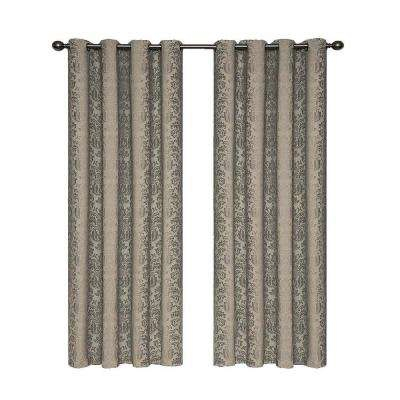 Nadya Blackout Polyester Curtain Panel Pertaining To Luxury Collection Faux Leather Blackout Single Curtain Panels (View 28 of 42)