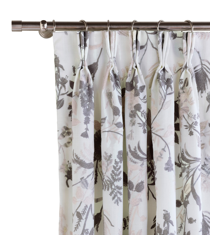 Naomi Pinch Pleated Curtain Panel In Pastel Regarding Solid Cotton Pleated Curtains (#25 of 50)