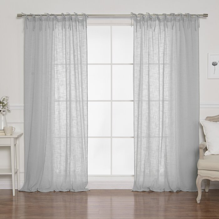 Nashville Cotton Gauze Solid Semi Sheer Tab Top Curtain Panels With Solid Cotton Curtain Panels (#32 of 47)