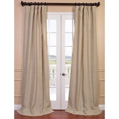 Natural French Linen Lined Curtain Panel – Overstock Pertaining To French Linen Lined Curtain Panels (View 36 of 50)