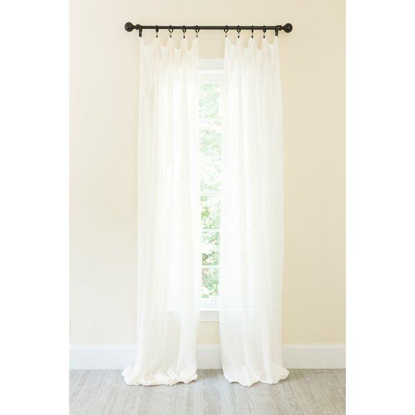 Natural Linen Curtains | Wayfair In Linen Button Window Curtains Single Panel (#28 of 40)