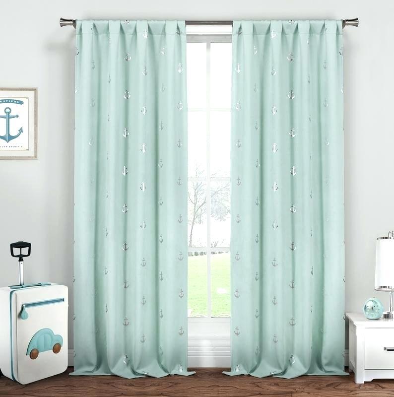 Nautical Blackout Curtains – Swomi Regarding Thermal Rod Pocket Blackout Curtain Panel Pairs (#35 of 50)