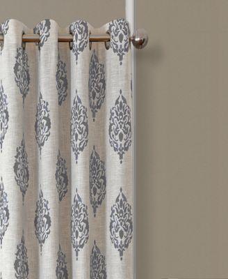 Navara Medallion Blackout Linen 52 X 84 Window Panel With Lambrequin Boho Paisley Cotton Curtain Panels (#28 of 41)