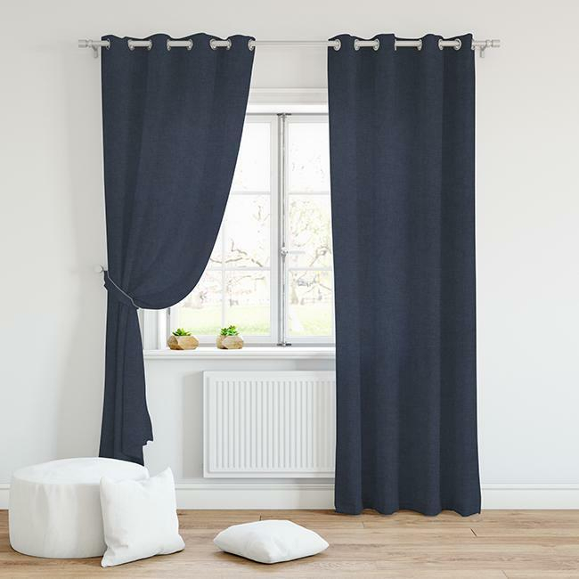 Navy Curtain Panels – Avalon Master (#28 of 38)