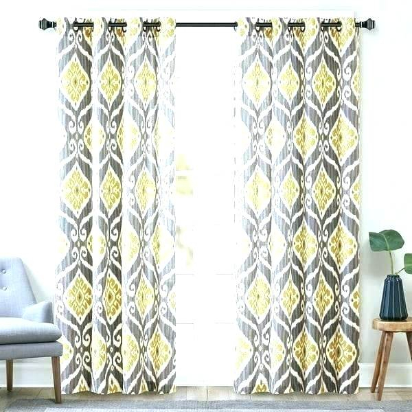 Navy Ikat Curtains Within Ikat Blue Printed Cotton Curtain Panels (#37 of 50)