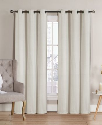 """Neil Blackout Panel Pair, 76""""x96"""" – Ivory/cream 