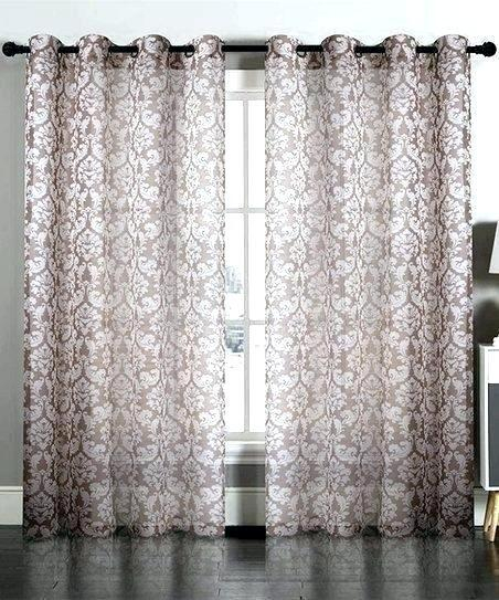 Neutral White Damask Curtains – Brewsavant (View 30 of 50)