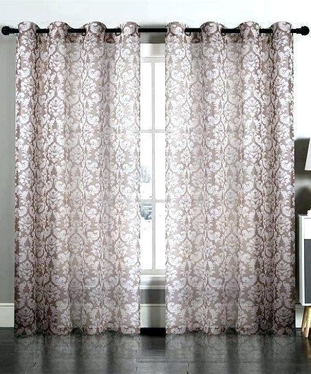 Neutral White Damask Curtains – Brewsavant (#30 of 50)