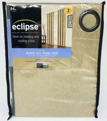 New! Eclipse Anderson Blackout Grommet Window Curtain Panel With Regard To Eclipse Trevi Blackout Grommet Window Curtain Panels (View 17 of 26)