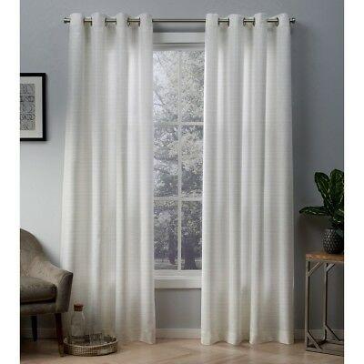 New Exclusive Home Indoor/outdoor Cabana Grommet Curtain With Regard To Delano Indoor/outdoor Grommet Top Curtain Panel Pairs (View 20 of 45)