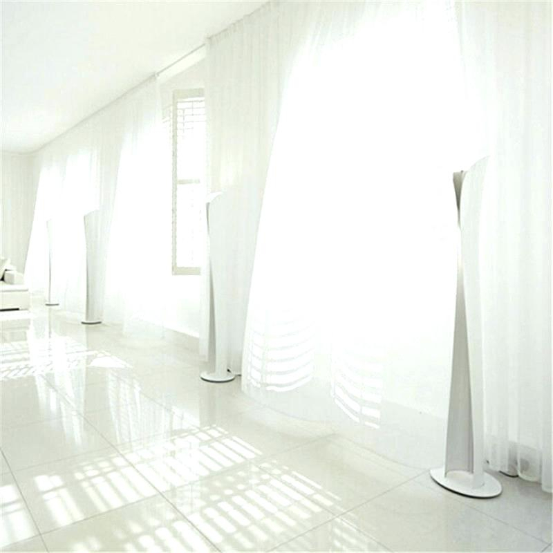 New Free Shipping 1 Piece Sheer White Voile Scarf Curtain In Extra Wide White Voile Sheer Curtain Panels (View 29 of 50)