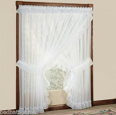 New Jessica Sheer Ruffled Priscilla Curtain Panel Pair With Intended For Curtain Panel Pairs (View 16 of 26)