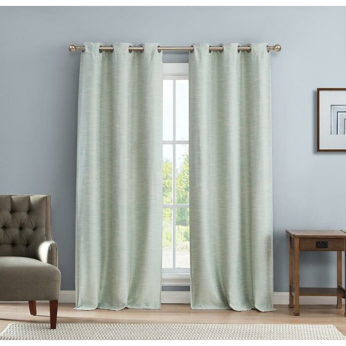 New London Linen Look Solid Blackout Thermal Grommet Curtain Panels For London Blackout Panel Pair (#31 of 41)