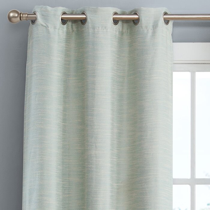 New London Linen Look Solid Blackout Thermal Grommet Curtain Panels Regarding London Blackout Panel Pair (#32 of 41)